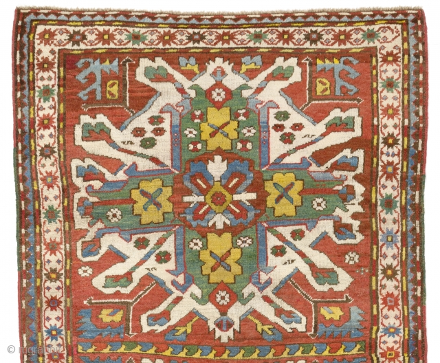 "Antique Chelaberd Rug or so called ""Eagle Kazak"" from Karabagh, South West Caucasus, ca 1880, 