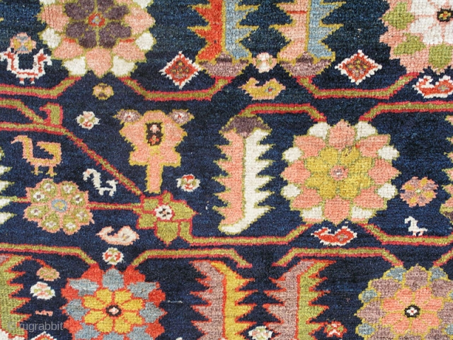 "Northwest Persian Kurdish long rug with great colors. 4'4""X10' or 132X305 Cm. Rough sides and ends as shown. Will benefit from a good cleaning. All wool."
