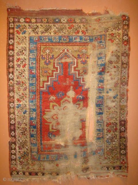 "Anatolian Turkish Prayer rug. 40""X55""....101X140 Cm."