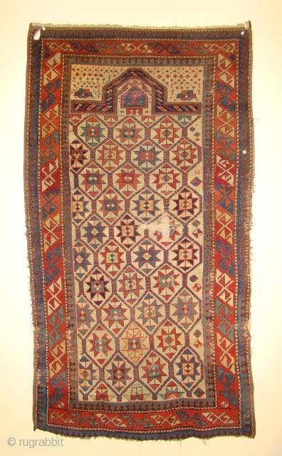 "Caucasian Prayer Rug. Size: 3'x5'7"""