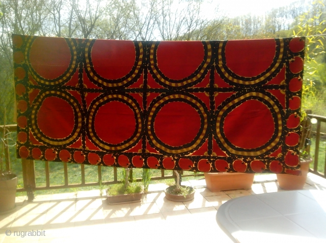 19th c Uzbek Tashkent Suzani 118x238 cm. Now on sale!