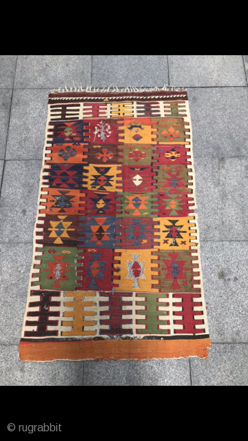 Anatolian kilim size:122 x 71 cm
