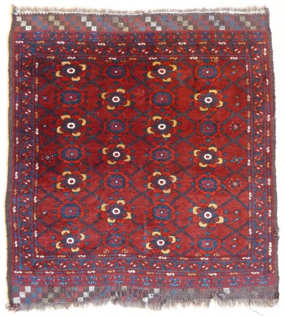 A good Ersari Beshir small rug, c.1900. 120 x 109cm.