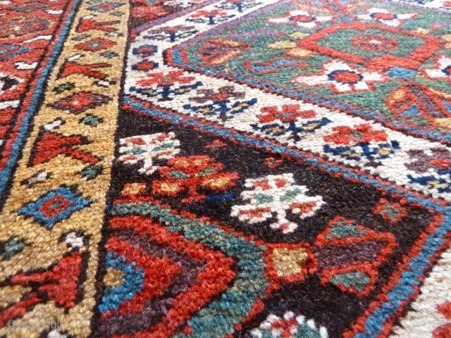 Fabulous wool and colours! A mid-19th Century Kurdish rug. Please ask for more details.