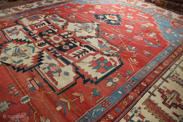 "Superb Bakshiash carpet, late 19th century, in good original pile. 11'6"" x 15'1"""