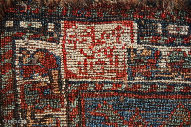 Not many rugs as tribal as this Khamseh out there. Must be one of the most freely drawn, archaic rugs I have seen for some time. A wonderful selection of naively drawn  ...