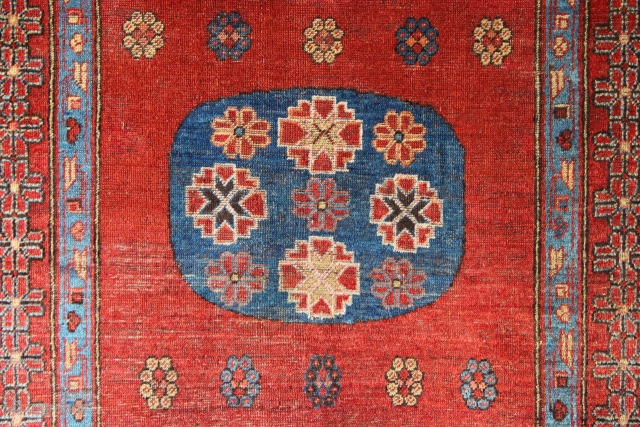 "Early 19th century Khotan rug 4'5"" x 7'10"""