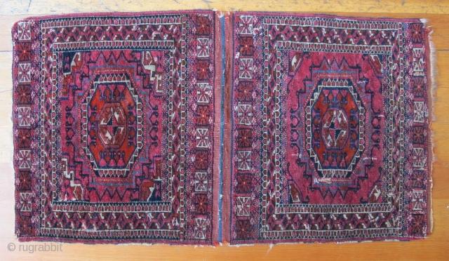 "Tekke Turkmen saddle bag, 1' 9"" x 3' 3"", Circa 1900"