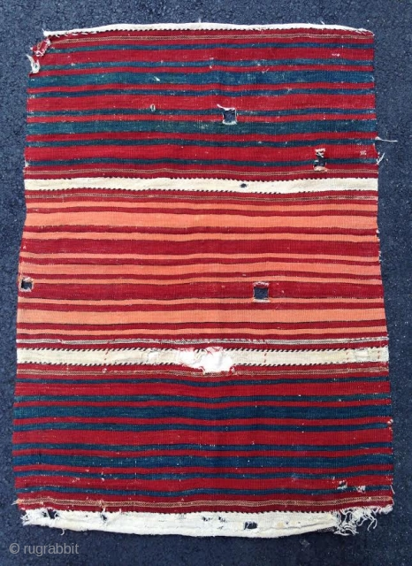 "Kilim Fragment, 2' 5"" x 3' 5"", Late 19th Century"