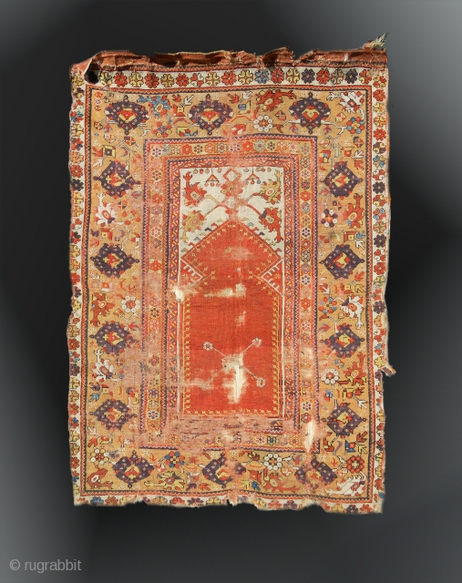 "Melas Prayer Rug, Mid 19th Century, 3' 5"" x 5'"