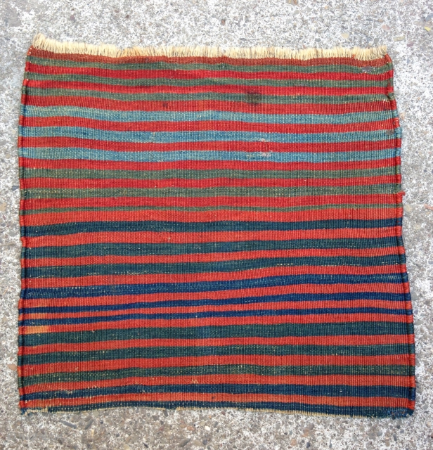 "Kilim fragment, 2' 2"" x 2' 2"", Late 19th century"