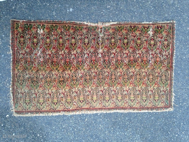 "Persian Senneh Panel, Late 19th Century, 2' 1"" x 3' 5"""
