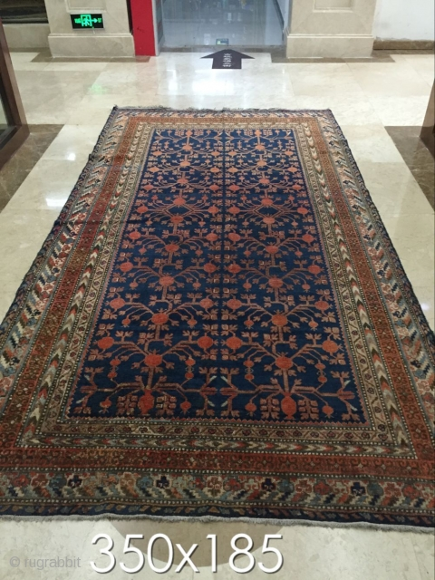 Xinjiang hotan carpet, the end of the 19th century, carpet size in the picture,
