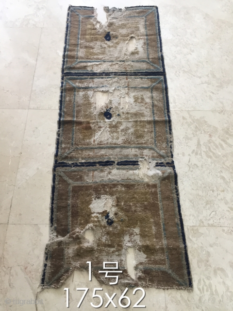 Carpet of ningxia, China s about 1820 or so, size 175 cmx62cm, the lowest price $280 including shipping fees
