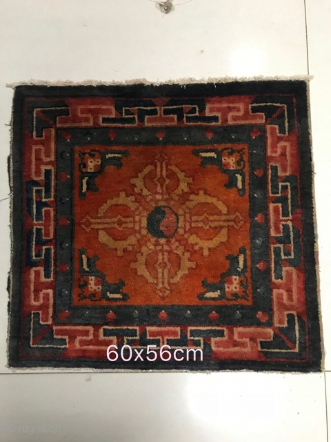 Inner Mongolia rug, early 20th century, size 60x56cm, welcome