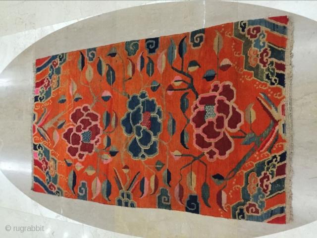 Tibetan carpets, size 152 cmx90cm, s 1920, warp weft wool, price concessions