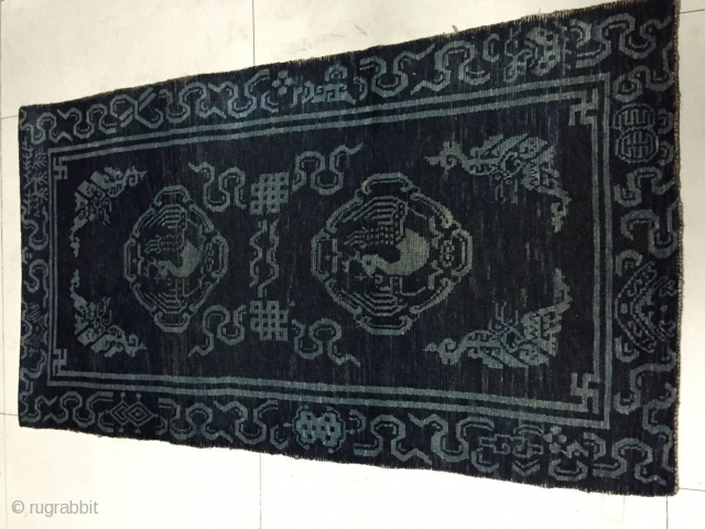 Around 1900, Tibetan carpets, s size 155 cmx85cm, price concessions
