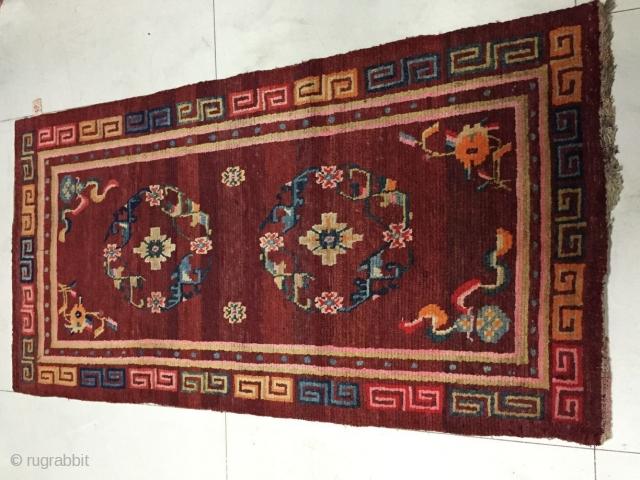 Around 1900, Tibetan carpets, s size 155 cmx80, all warp weft wool