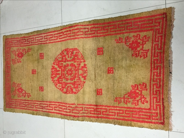 Around 1930, Tibetan carpets, s size 155 cmx80cm, warp weft wool, price concessions