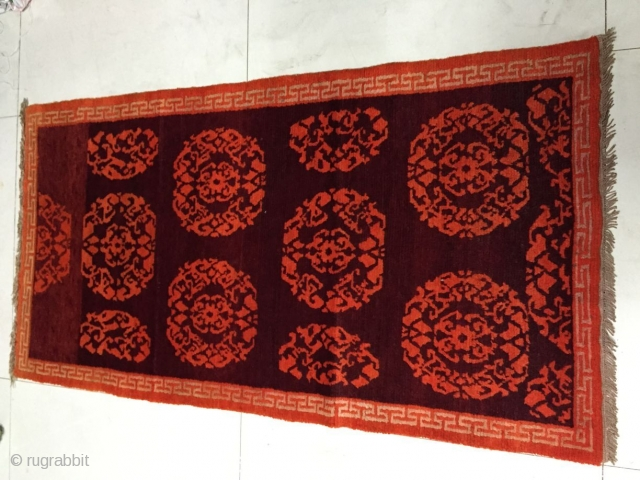 Around 1940, Tibetan carpets, s size 156 cmx82cm, warp weft wool, price concessions
