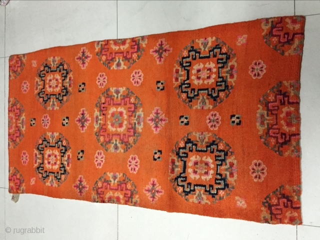 Around 1930, Tibetan carpets, s size 158 cmx83cm, all warp weft wool