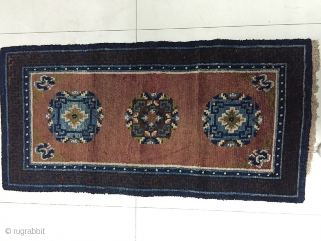 Around 1890, Tibetan carpets, s size 140 cmx70cm, all wool