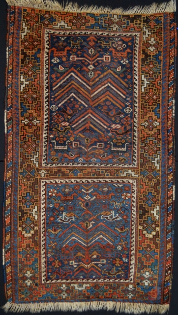Extraordinary  Antique Khamseh Confederacy Smal rug.