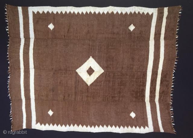 "Anatolian Goat Hair (Angora Wool)Siirt Blanket Size:230x174cm / 7'7""x5'9"""