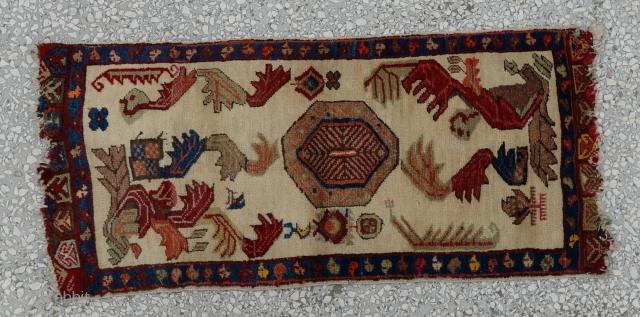"19th century Central Anatolian Yastik (KONYA) size:98 X 44 cm          3'3x1'6"""