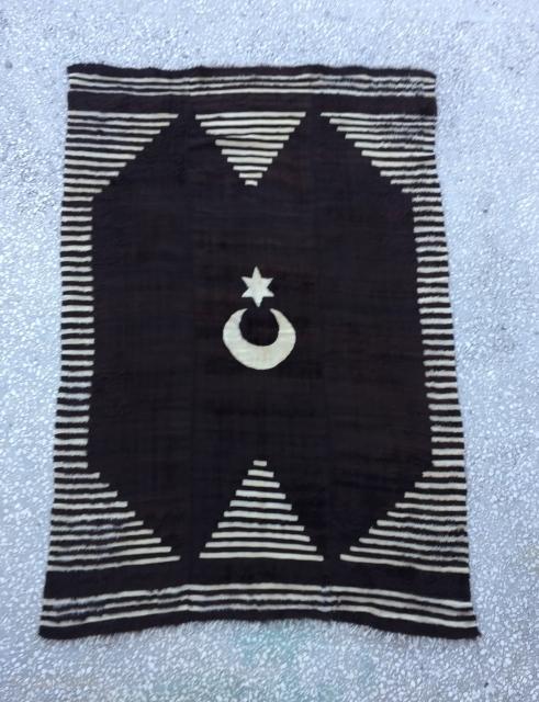 Anatolian Goat (Angora Wool)Hair Siirt Blanket  Size:178x122 cm