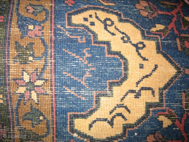 Stunning 12' X 24' Indo-Kashan circa 1920.  This carpet has been professionally cleaned and stored.  It is full pile with no damage.  More photos and detail available upon request.