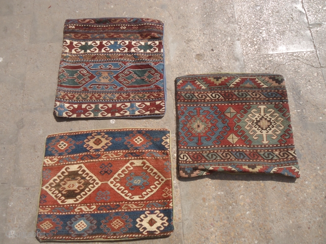 Shahsavan 3 panels made coushions,great natural colors and very fine weave.E.mail for more info and pics.