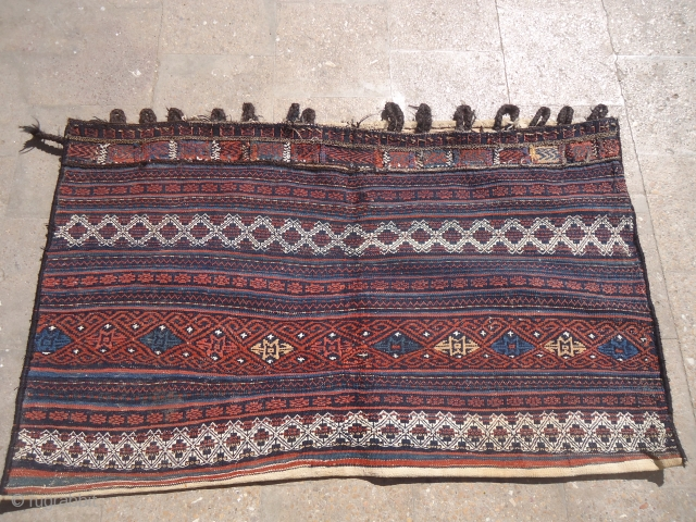 "Large Baluch Grain Bag with great colors and very nice design,excellent condition.Size 4'6""*2'7"".E.mail for more info and pics."