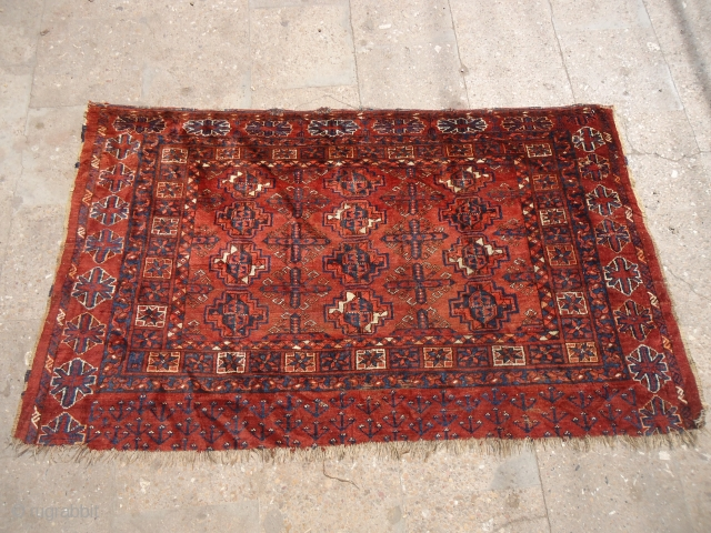 """Large Chuval with great natural colors and beautiful design.soft shiny wool.Size 4'11""""*2'11"""".E.mail for more info and pics.E.mail for more info and pics."""
