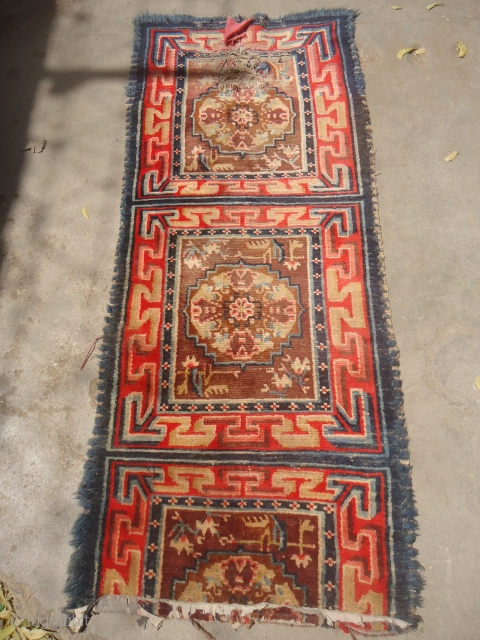 Tibet Seating runner,all good colros and very nice design,early age and beautiful design.E.mail for more info and pics.