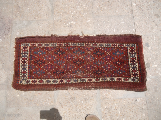 "Trapping with beautiful natural colors and nice design,without any repair or work done.Size 3'*1'3"".E.mail for more info and pics."
