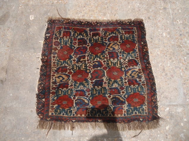 """Qashqai Bagface with great natural colors and design,fine weave and good wool.Size 2*1'10"""".E.mail for more info and pics."""