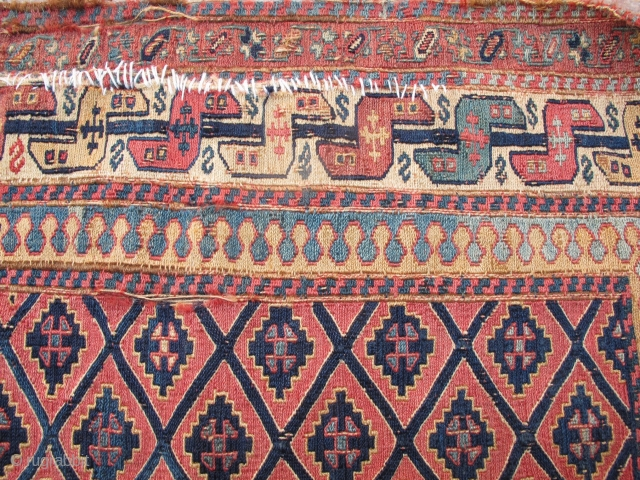Shahsavan Sumak bagface  19th very fine  size 45x45cm