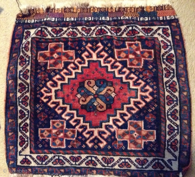 """For sale is a 1920 Qashqi, 2'2"""" x 2' in good pile and condition."""