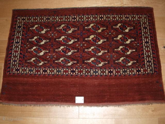 Yomut 16 gul chuval, full pile, size: 115 x 76cm.