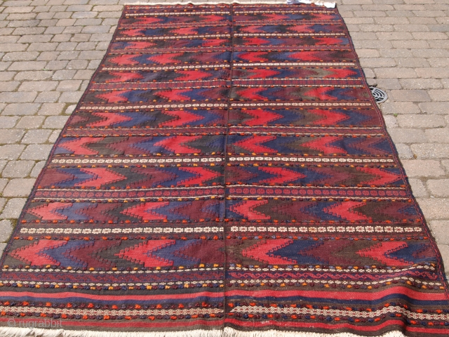 Baluch kilim woven in two parts, size: 306 x 167cm. d-1067.