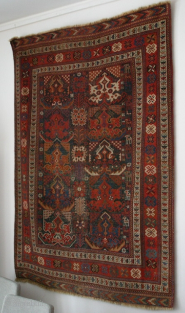 {85} 128 x 170 cm. Afshar, ca. 1870. Dragon palmettes.