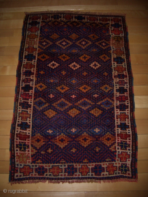 fascinating Kurdish rug, late 19th century, 124x195 cm, good condition