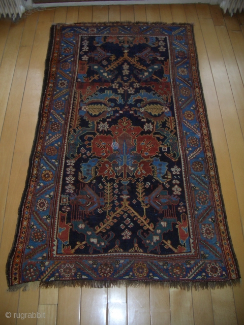 NWP Bakhtiari rug, ca. 1875-1900, 145x232 cm, lower minor bording missing but in good condition.