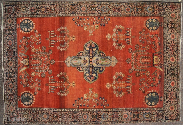 Farahan sarouk, c. 1900. 5 x 7 ft (150 x 210 cm), good condition.