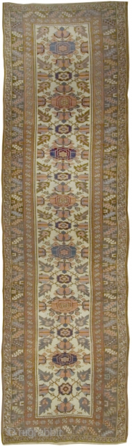 Antique Kurdish Runner.Circa 1880. 3'7 x 13'5.  For more information please call us +1 212-532-5111 