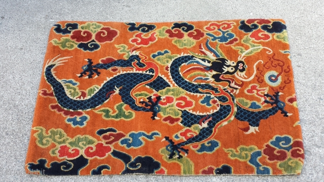 early 20th century Tibetan carpet. size 82.5cm * 55cm.(SOLD)