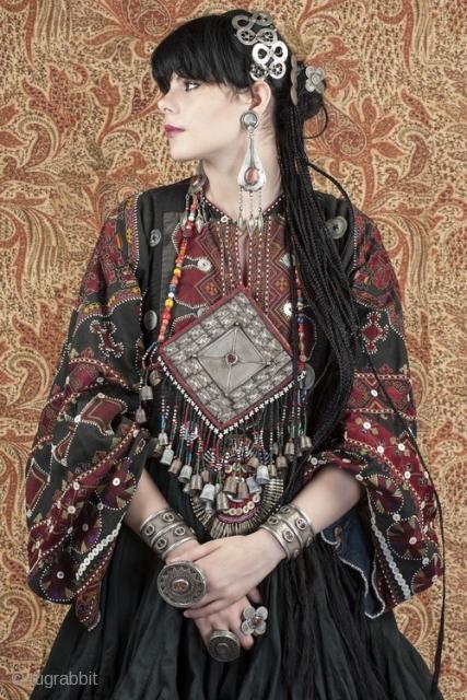 Embroidered Tunic From The Hindu Kush Region Silk Thread