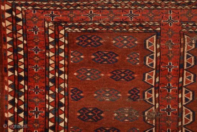 Early 19th Century Yamud Engsi ıt has unusual Elems.Size 133 x 178