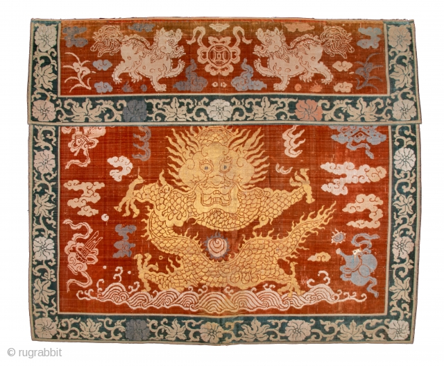 """18th Century Beautiful early Chinese velvet in original good condition. Size 83 x 100 cm (2'9"""" x 3'3"""")"""